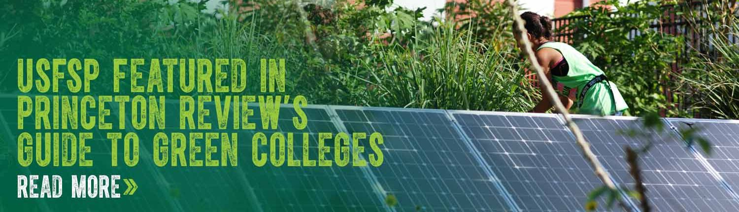 USFSP Featured In Princeton Review's Guide to Green Colleges