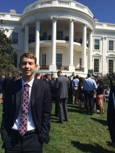 USFSP student Tyler Lewis completed an internship at the White House in Spring 2015.
