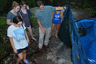 USFSP students at Weedon Island Preserve as part of the Learning Journeys initiative.