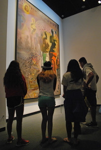 Students learn about the concepts of surrealism through the work of artist Salvador Dali.
