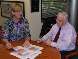 USFSP College of Education Associate Dean Dr. Olivia Hodges and Dean Dr. Bill Heller
