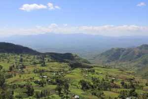 A photograph of the Gamo Highlands., Ethiopia