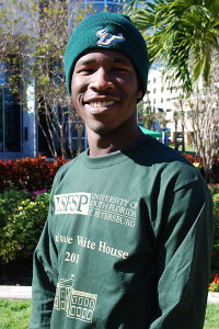 A photo of USFSP student Victor Sims