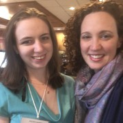 A photo of USFSP graduate student Allison Stering with SEPES President Jessica Heybach Vivirito