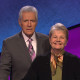 "A photo of USFSP Professor Dr. Norine Noonan with longtime ""Jeopardy!"" TV show host Alex Trebek."