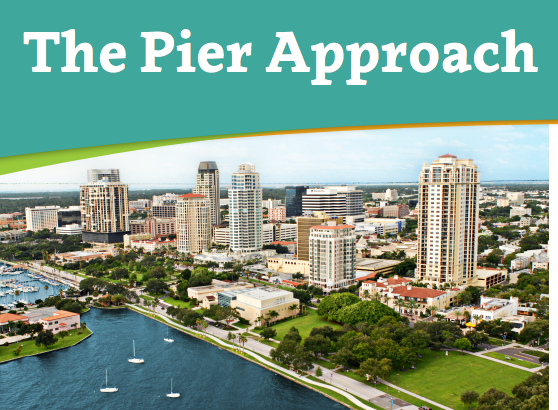 A photo of the St. Petersburg downtown waterfront. Graphic courtesy of the City of St. Petersburg
