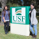 A photo of USFSP students Brooke Forbes and Samantha Godbold