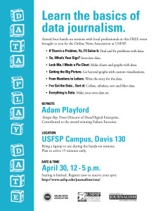 A digital graphic for the Data Play Date event on April 30