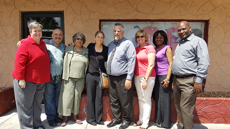 A photo of Dr. Allison Pinto with some participants from the two-day intensive training on Restorative Practices.