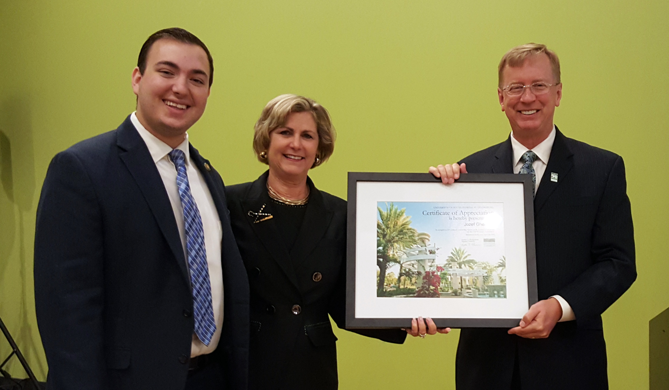 Campus Board Recognizes Outgoing Trustee, Student President ...