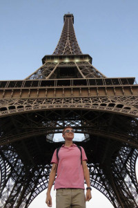 A photo of USFSP student Kevin Ramirez during his 2015 trip to Nice, France, as part of the USFSP Study Abroad program
