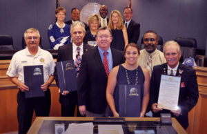 The Pinellas County Board of County Commissioners present the Memorial Day proclamation to local veterans representatives from around Pinellas County. Photo courtesy of Pinellas County Marketing and Communications.