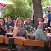 Students from the Summer 2015 Education Abroad trip to Germany during a USFSP hosted welcome dinner.