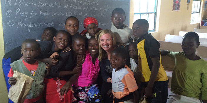 A photo of Dr. Tiffany Chenneville in Kenya during her trip in Summer 2015. Photo courtesy of Chenneville and Springs of Hope Kenya.