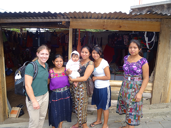 A photo of a USFSP MBA graduate student in Guatemala during a previous Education Abroad trip
