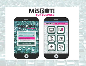 An illustration of the winning team's mobile app concept called MiSPOT.