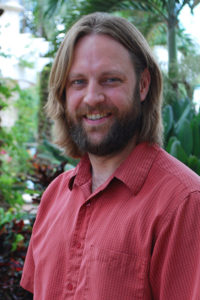 A photo of USFSP Assistant Professor of History Dr. Adrian O'Connor at USF St. Petersburg