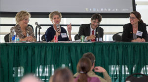 Panelists address the audience during a discussion panel from the 2015 ICAR conference. Photo credit: John Osegovic.
