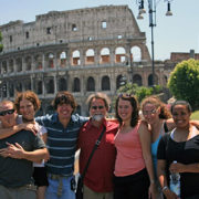 A photo of students and Dr. Stephen Ritch during the Leadership Ethics Education Abroad course in 2007