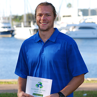 A photo of Brian Pullen, sustainability coordinator at USFSP