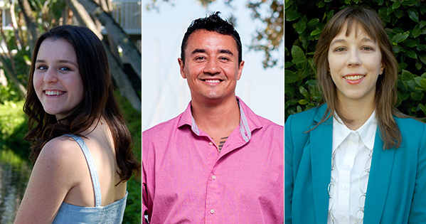 From left: Megan Lee, Albert Moreno III, and Mollie Wilfert. The photo of Albert is courtesy of Beautiful You Images.
