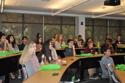 To get a feel for the types of educational experiences at USFSP, students sat through one of several classroom lectures offered.