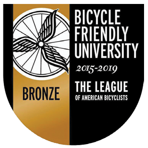 Bicycle Friendly University - Bronze - the leaue of american bicyclists