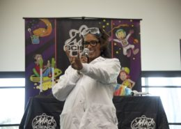 Dean of the College of Education Allyson Watson at the St. Petersburg Science Festival.