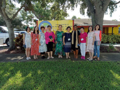 Education Professor Dr. LaSonya Moore with faculty from Changzhi University during their trip to USFSP to learn about American higher education practices.