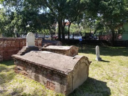 USF researchers are employing 3D imaging technology such as terrestrial laser scanning to develop a digital recreation of the historic Tolomato Cemetery.