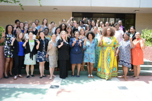 Participants of USF's research boot camps, a week-long intensive session to advance doctoral students and junior scholars in developing their own research agenda, which will be incorporated into the alliance's model for increasing minority women faculty in STEM fields.