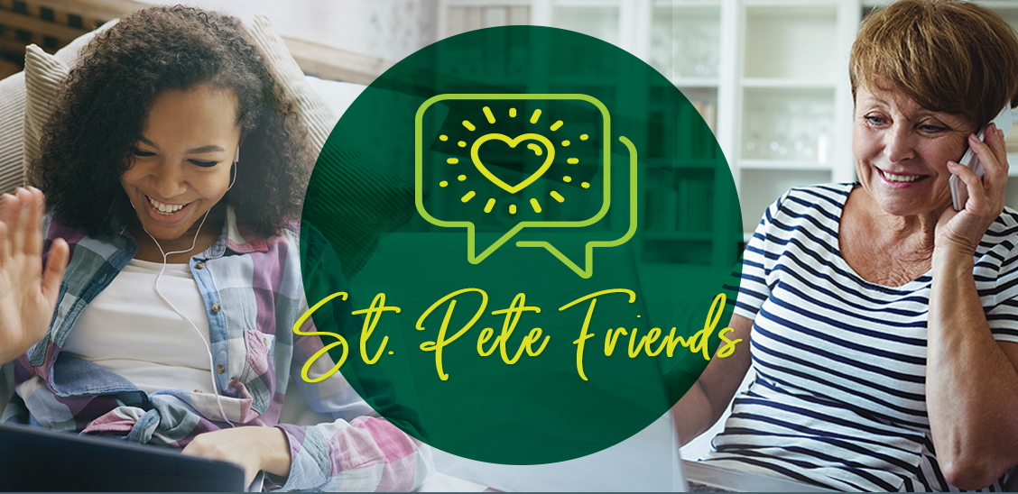 The St. Pete Friends program offers opportunities for seniors and students to connect during this time of social distancing and isolation, sharing their experiences and a much-needed laugh.