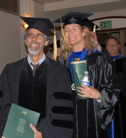 Jay participating in the 2009 Spring Commencement.