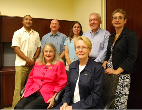 Patricia (first row, left) as a member of the Faculty Senate in 2009.